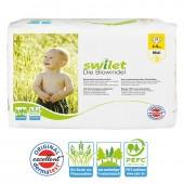 Pquet 28 Couches bio écologiques Swilet Sensitive sur auchan