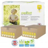 Maxi Giga pack de 336 Couches bio écologiques Swilet sur auchan
